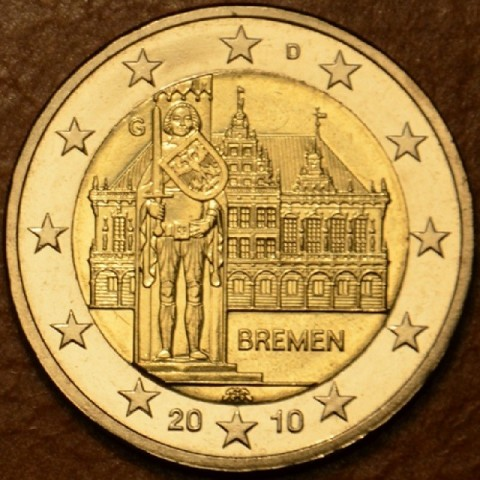 "2 Euro Germany ""G"" 2010 - Bremen: Town hall with sculpture of Roland  (UNC)"