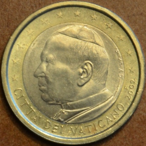 1 Euro Vatican His Holiness Pope John Paul II 2002 (BU)