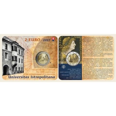 2 Euro Slovakia 2017 - Univerzita Istropolitana (BU karta)