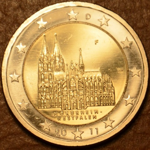 "2 Euro Germany ""F"" 2011 - North Rhine-Westphalia: Cathedral in Köln (UNC)"