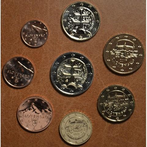 Set of Slovak coins 2017 (UNC)