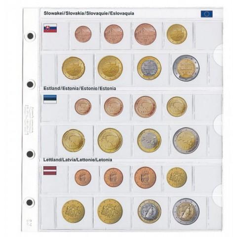 Slovakia, Estonia, Latvia - page into Lindner album