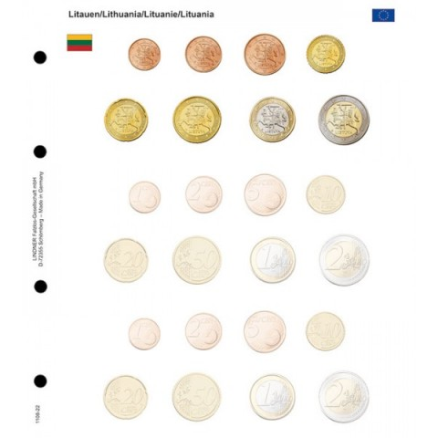 Lithuania and 2 empty sets - page into Lindner album