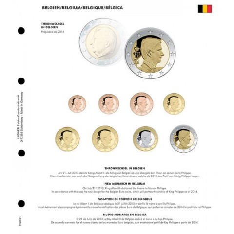 New King of Belgium 2014 - page into Lindner album