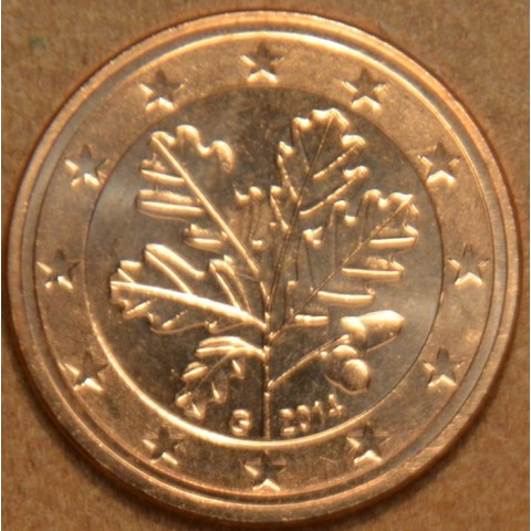 """1 cent Germany """"G"""" 2014 (UNC)"""