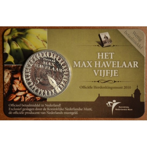5 Euro Netherlands 2010 - 150 years of Max Havelaar (BU card)