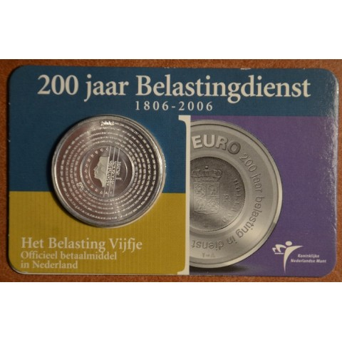 5 Euro Netherlands 2006 - 200 years of tax (BU card)