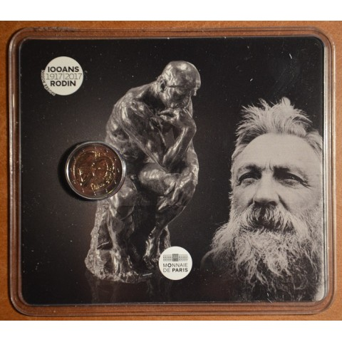 2 Euro France 2017 - Auguste Rodin (BU card)