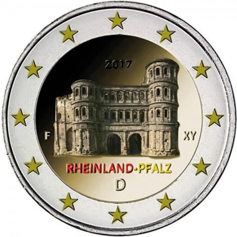 2 Euro Germany 2017 - Rheinland-Pfalz: Porta Nigra (colored UNC)