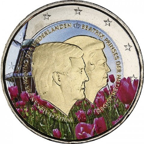 2 Euro Netherlands 2014 - Double portrait III. (colored UNC)