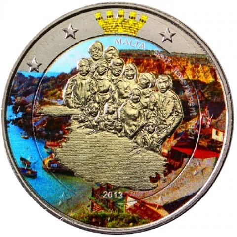 2 Euro Malta 2013 - 1921 Self Government III.  (colored UNC)