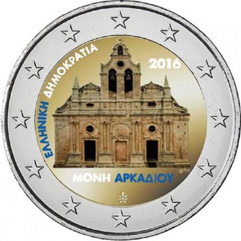 2 Euro Greece 2016 - Monastery Arkadi III. (colored UNC)