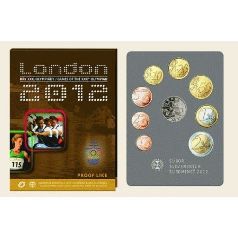 Set of 8 Slovak coins 2012 London (Proof)