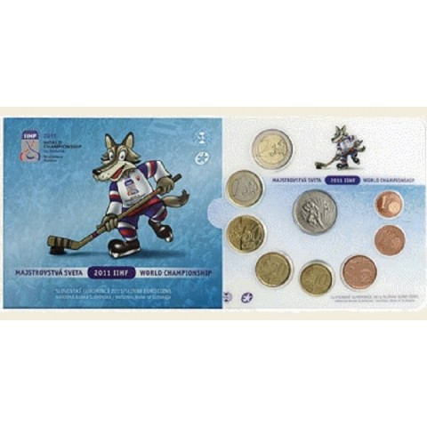 Set of Slovak coins 2011 - Hockey (BU)
