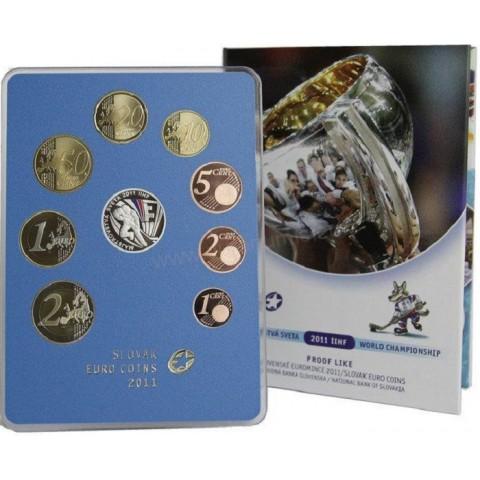 Set of Slovak coins 2011 - Hockey (Proof)