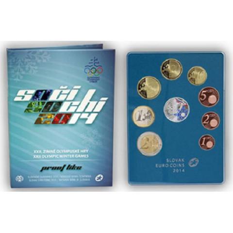 "Set of Slovak coins 2014 ""Sochi"" (Proof)"