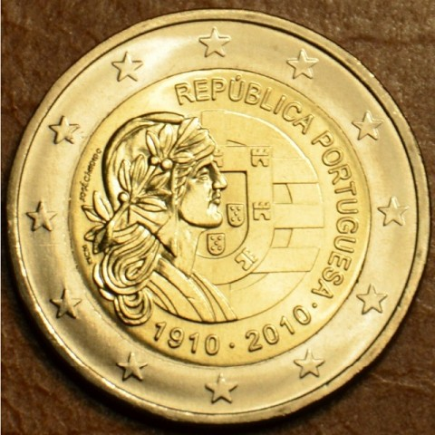 2 Euro Portugal 2010 - 100th anniversary of the Portugal Republic  (UNC)