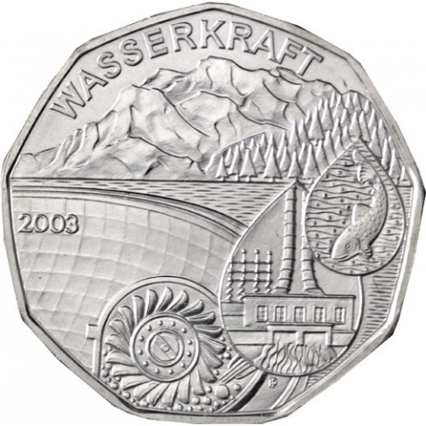 5 Euro Austria 2003 Water power (UNC)