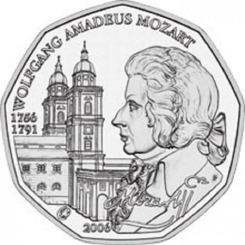 5 Euro Austria 2006 - W. A. Mozart (UNC)