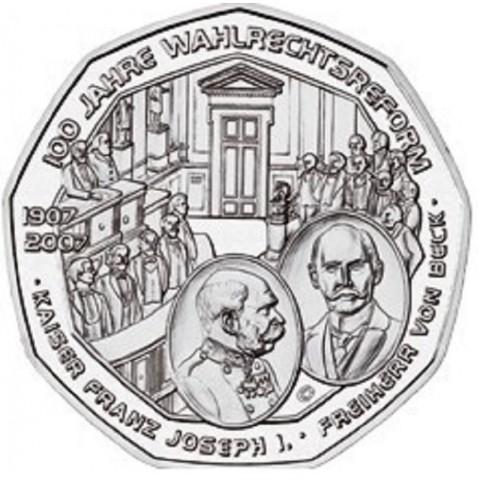 5 Euro Austria 2007 - Suffrage (UNC)