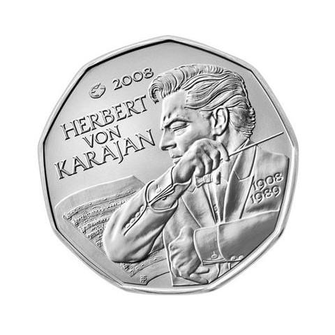 5 Euro Austria 2008 - Herbert von Karajan (UNC)