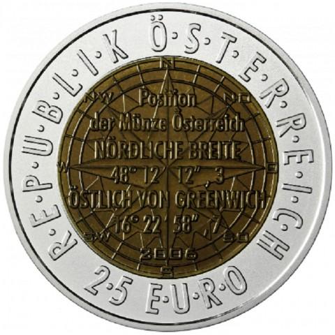 25 Euro Austria 2006 - Satellite navigation (Niob)