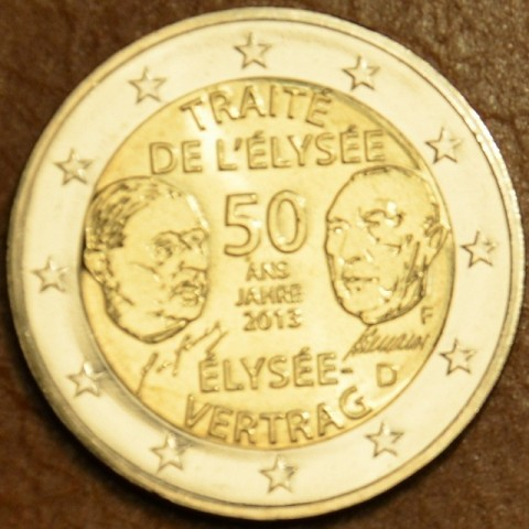 "2 Euro Germany ""F"" 2013 - 50 Years of the Élysée Treaty (UNC)"