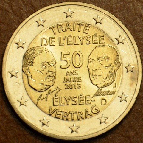 "2 Euro Germany ""J"" 2013 - 50 Years of the Élysée Treaty (UNC)"