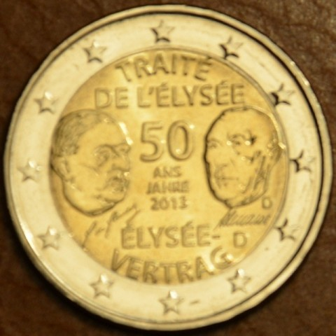 "2 Euro Germany ""D"" 2013 - 50 Years of the Élysée Treaty (UNC)"