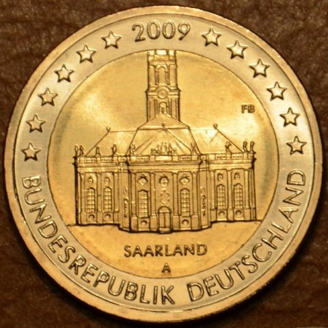 "2 Euro Germany ""A"" 2009 - Ludwigskirche in Saarbrücken (UNC)"