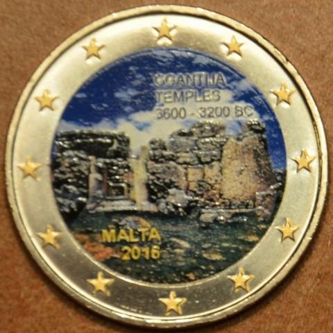 2 Euro Malta 2016 - Temples of Ggantija IV. (colored UNC)