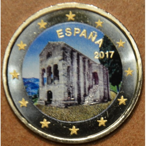 2 Euro Spain 2017 - Oviedo: Santa María del Naranco II. (colored UNC)