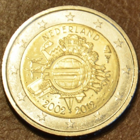 2 Euro Netherlands 2012 - Ten years of Euro  (UNC)