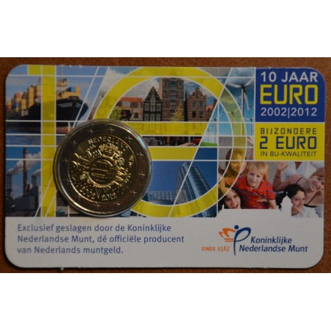 2 Euro Netherlands 2012 - Ten years of Euro  (BU card)