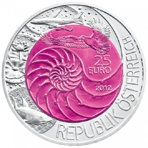25 Euro Austria 2012 - silver niobium coin Bionik (UNC)