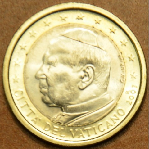 1 Euro Vatican His Holiness Pope John Paul II 2003 (BU)