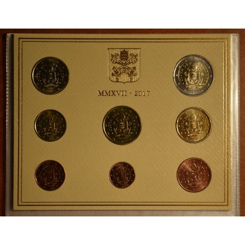 Set of 8 eurocoins Vatican 2017  (BU)