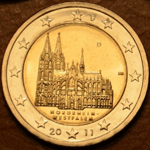 "2 Euro Germany ""D"" 2011 - North Rhine-Westphalia: Cathedral in Köln (UNC)"