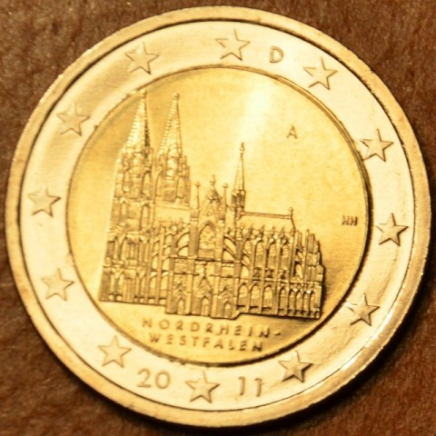"2 Euro Germany ""A"" 2011 - North Rhine-Westphalia: Cathedral in Köln (UNC)"