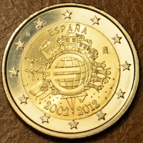 2 Euro Spain 2012 - Ten years of Euro  (UNC)