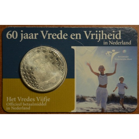 5 Euro Netherlands 2005 - Peace and freedom (BU card)