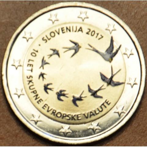 2 Euro Slovenia 2017 - 10 years of Euro III. (colored UNC)