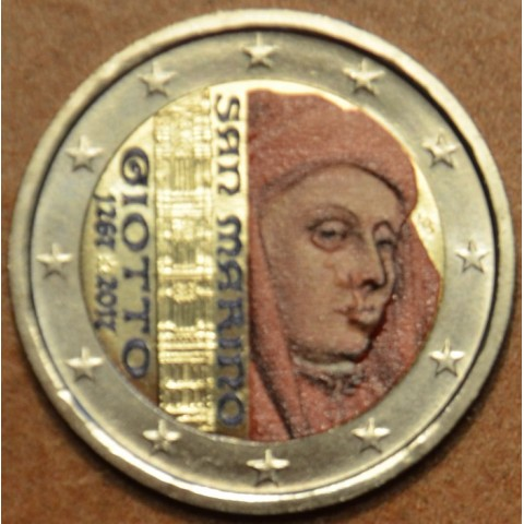 2 Euro San Marino 2017 - 750th anniversary of Giotto (colored UNC)
