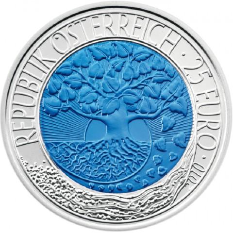 25 Euro Austria 2010 - silver niobium coin Renewable energy (UNC)
