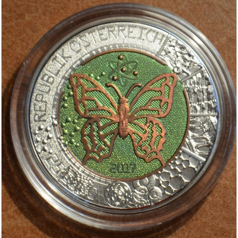 25 Euro Austria 2017 - silver niobium coin Microcosmos