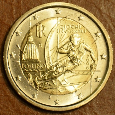 2 Euro Italy 2006 - Winter Olympics in Turin (UNC)