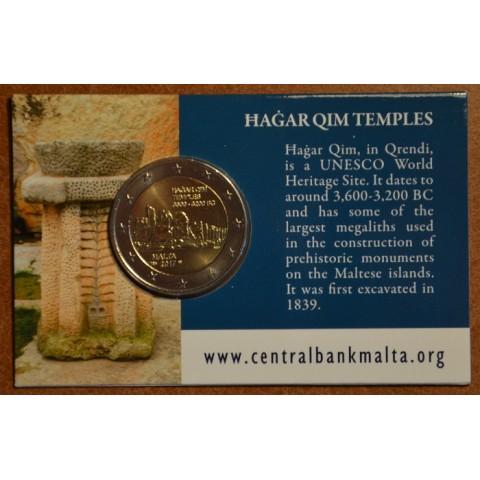 2 Euro Malta 2017 french mintmark - Hagar Qim (BU karta)