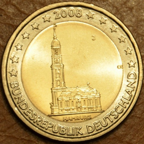"2 Euro Germany ""J"" 2008 - Hamburg: St. Michaelis' Church (UNC)"