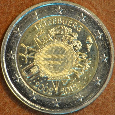 Damaged 2 Euro Luxembourg 2012 - Ten years of Euro  (UNC)