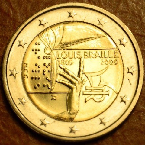 2 Euro Italy 2009 - 200th Anniversary of birth of Louis Braille (UNC)